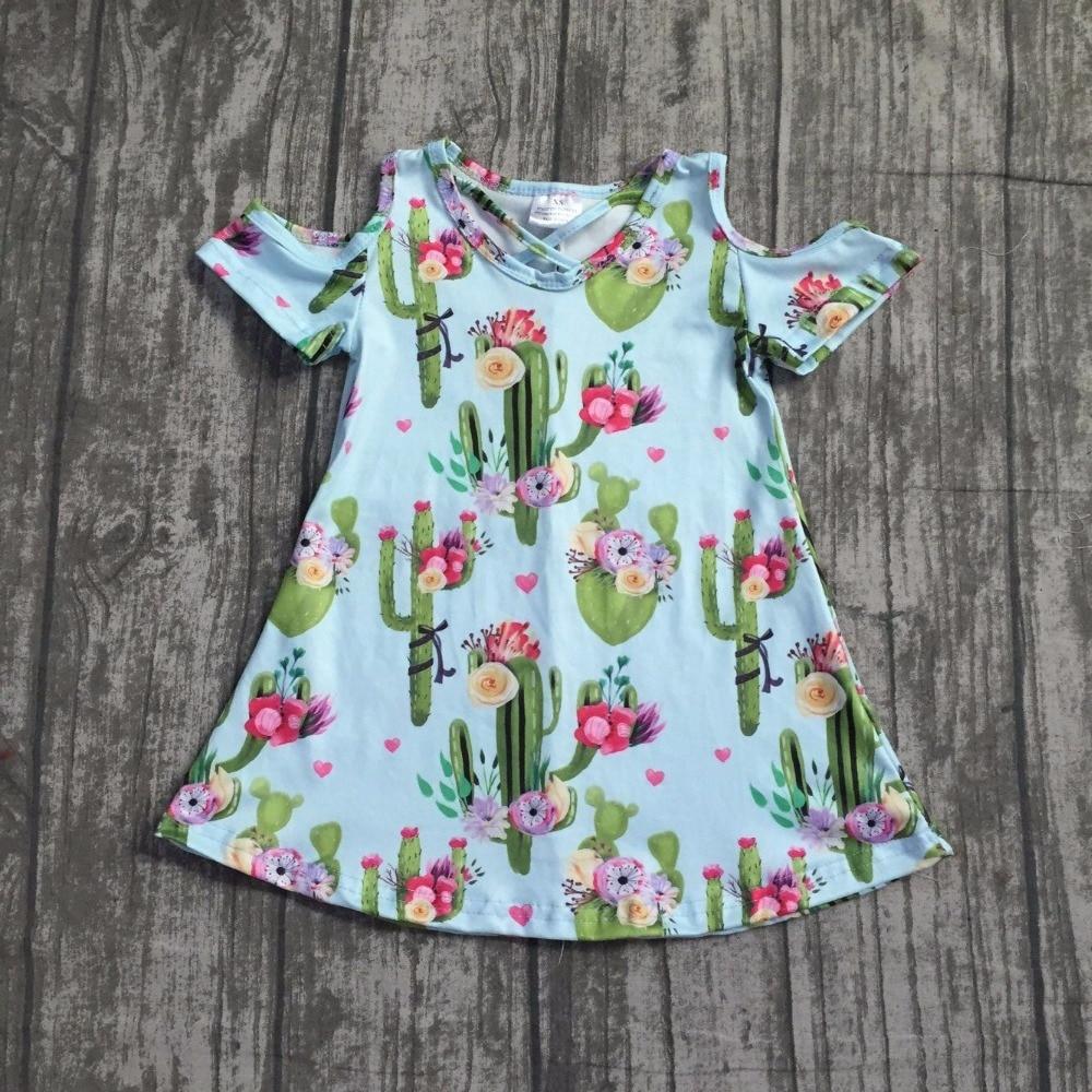 baby girls summer dress clothing girls cactus dress children girlscactus floral dress milk silk boutique dress clothing outfits