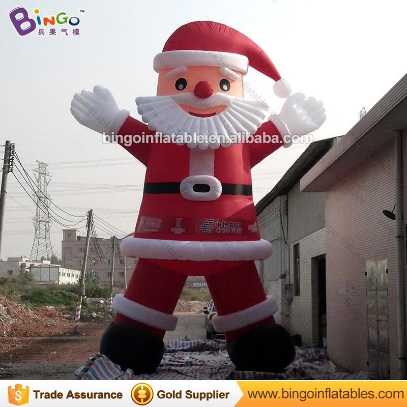 Бесплатная доставка 8 м Высокое большие надувные Санта Клаус рисунок рекламы взорвать старик модели с бородой для рождественских день игру