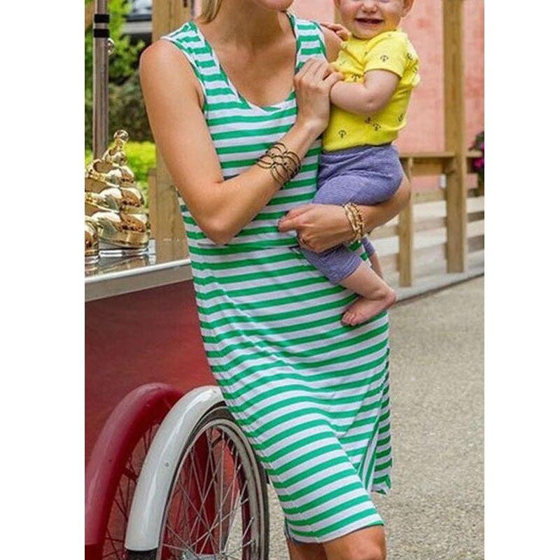 Sleeveless Nursing Dresses Maternity Breastfeeding Clothes For Pregnant Women Gravidas Vestidos Feeding Dress Pregnancy Clothing