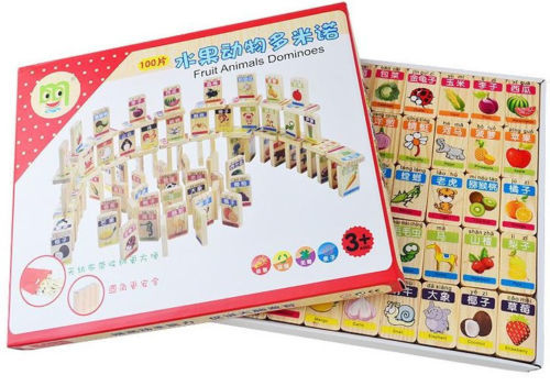 Candice guo wooden toy wood puzzle cartoon fruit animal pattern domino play game baby birthday gift christmas present 100pcs/set good quality luo han guo extractsiraitia grosvenorii extractmonk fruit sweetener 10 1 600g