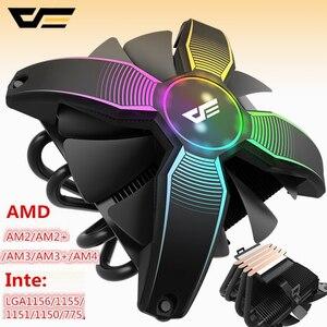 Image 2 - DarkFlash Aigo obudowa komputera chłodzenie procesora CPU 4 rura miedziana chłodnica procesora chłodnica procesora dla Intel AM2/AM3/AM4