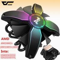 darkFlash Aigo Computer Case CPU Cooler Radiator 4 copper tube Processor Cooler CPU Cooler Cooling Fan for Intel AM2/AM3/AM4