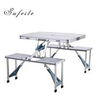 Sufeile открытый алюминиевый складной стол сплав сиамские Раскладные столы и стулья Портативный складной Пикник Стол для барбекю W5D20