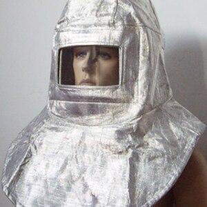 Image 3 - High Quality Heat Resistant Helmet Headgear 1000Degree Thermal Radiation Aluminum Foil Aluminized Hat Fireproof High Temperature