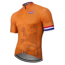 Netherlands 2020 Team New Summer Breathable Cycling Jersey Men Bicycle Wear Bike Road Mountain Race Tops Yellow Customized cheap MAXSTRADDLE Polyester Short Jerseys Full Zipper Fits smaller than usual Please check this store s sizing info Anti-Wrinkle