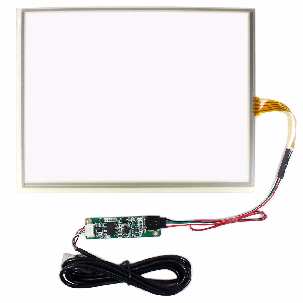 10.4 Touch Panel With USB Controller Card For 10.4inch 1024x768 LCD Screen 98 inch monitor ir touch screen 2 points infrared touch screen panel ir touch screen frame overlay with usb