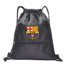 Drawstring Soccer Bag Barcelona Football Clubs Swerve Gym Bag Backpack Sport Bag Advanced Materials Waterproof and Durable