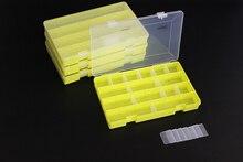 цена DIY Fishing lure box Transparent Visible Plastic Fishing Tackle Box Large Capacity Fishing Lure Storage Box Case B284