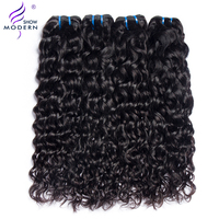 Modern Show Hair Peruvian Water Wave Bundles Human Hair Weave 1/3/4 Bundles Deals Brazilian Hair Bundles Non remy Hair Extension