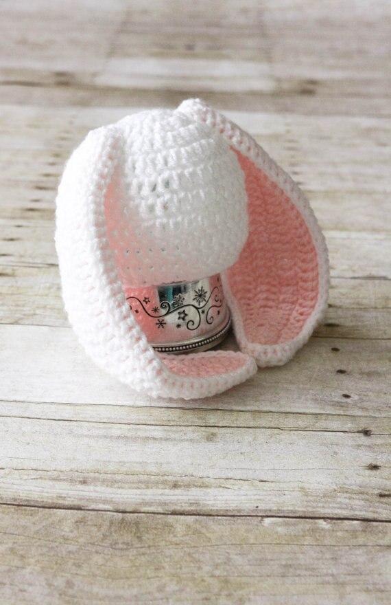 Bebé Ganchillo Sombrero Del Conejito, Crochet Sombrero Del Conejo ...