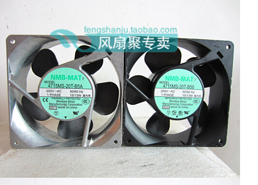 The original NMB-MAT 4715MS-20T-B5A 12cm 200V120*120*38MM cooling fan new and original 12cm 4715kl 04w b50 12038 1 3a double row ball bearing cooling fan for nmb 120 120 38mm