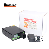 Speeder 2000 Chronograph Rechargable BB Shooting Chrony Speed Tester High Power 10 Sets Data Storage for Airsoft BB Gun HT7 0005
