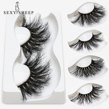 SEXYSHEEP 25mm 5D 밍크 속눈썹 100% 학대 무료 속눈썹 수제 재사용 가능한 자연 속눈썹 인기있는 거짓 속눈썹 메이크업