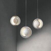Nodic Anhänger Lichter kunst kreis runde anhänger lampen für wohnzimmer küche weiß hanglamp suspension leuchte leuchten Pendelleuchten    -