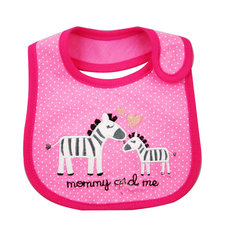 Rastgele Renk Bebek Önlükler 2 Kat Su Geçirmez Önlükler Erkek Kız Bebekler Karikatür Desen Önlükler Burp Bezleri Çocuk Kendini Besleme Bakım