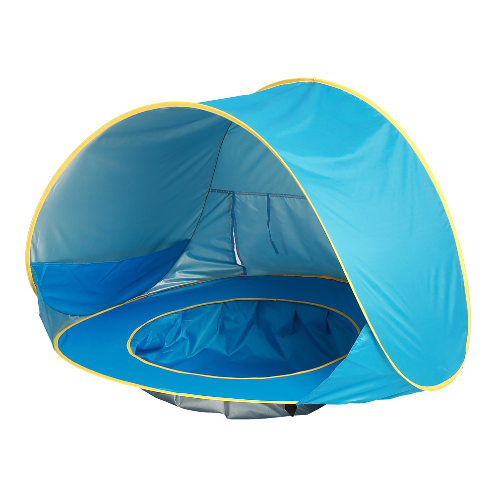 Childrens Tent Toys Baby Beach Tent UV-Protection Sun Shelter Pool With Balls Infant Tents Small House Ball Pit Play Tents Toy