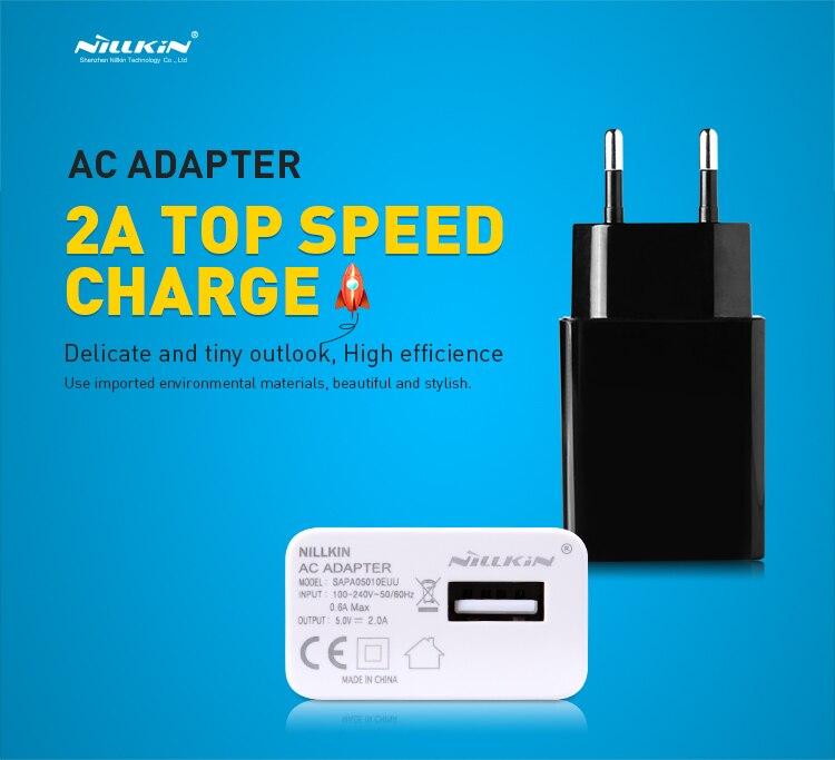 Nillkin ładowarka USB wtyczka FCC CE 5 V 2A z nami ue europa standardowy AC adapter do Apple iPhone X 8 7 Plus samsung Xiaomi Lenovo Huawei