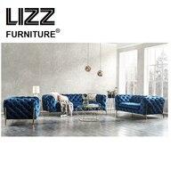 Секционные современные ткани Честерфилд диван для гостиной кресло мешок диван набор мебели для дома