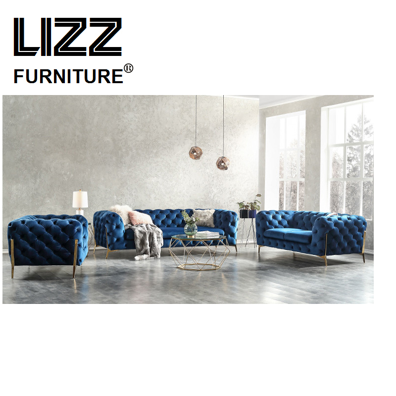 Sectional modern Fabric Chesterfiled sofa for living room Bean bag chair couch sofa home furniture set