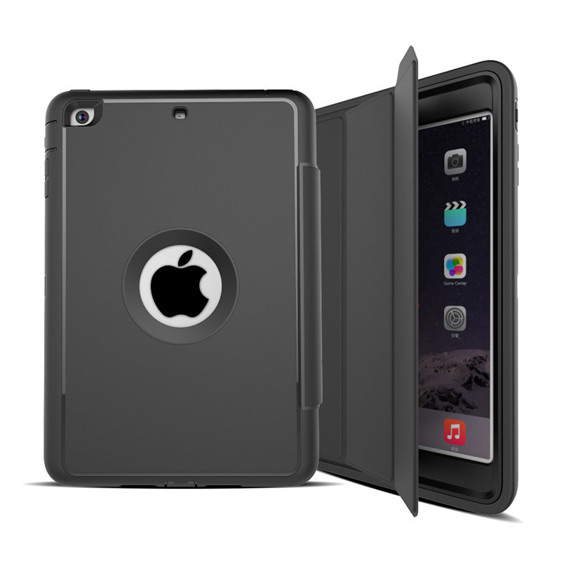 360 Full Protection Smart Tablet Case For Apple iPad Mini 1/2/3 7.9 inch Heavy Duty TPU Hard Shockproof Kickstand Cover Shell