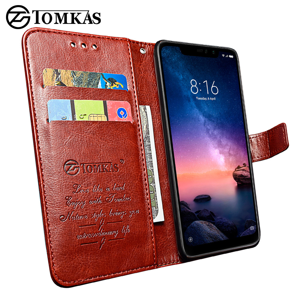 TOMKAS Flip Leather Case for Xiaomi Redmi Note 6 Pro Case for Xiaomi Mi A2 Lite Xiomi Wallet Cover Phone Cases Vintage BussinessTOMKAS Flip Leather Case for Xiaomi Redmi Note 6 Pro Case for Xiaomi Mi A2 Lite Xiomi Wallet Cover Phone Cases Vintage Bussiness