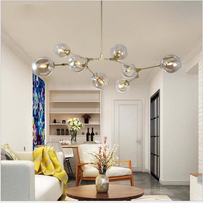 LED Modern Pendant Lights Glass for Living Room Loft Dining Room Kitchen Nordic Designer pendant Lamps Fixtures hanging Light in Ceiling Lights from Lights Lighting