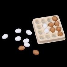 Accessoires de cuisine + 16 pièces œufs miniatures, plateau + 16 pièces, jouets décoratifs pour maison de poupée 1:12