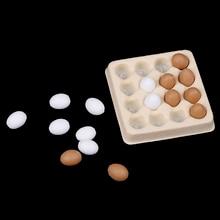 Khay + 16 Chiếc Thu Nhỏ Trứng Thực Phẩm Nhà Bếp Phụ Kiện Trang Trí Cho 1:12 Nhà Búp Bê Thực Phẩm Nhà Bếp Giả Đồ Chơi
