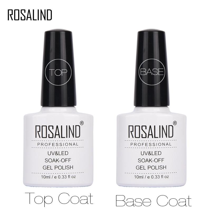 Праймер ROSALAND, Гель-лак 10 мл, верхнее Базовое покрытие, Гель-лак, верхнее покрытие + Базовое покрытие, основа для оригинального дизайна ногтей