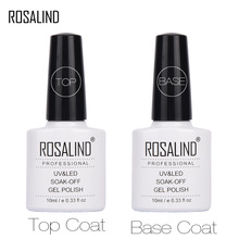 Gel-Polish Coat Primer Top-Base ROSALAND Nail-Design for 10ML Foundation Varnish