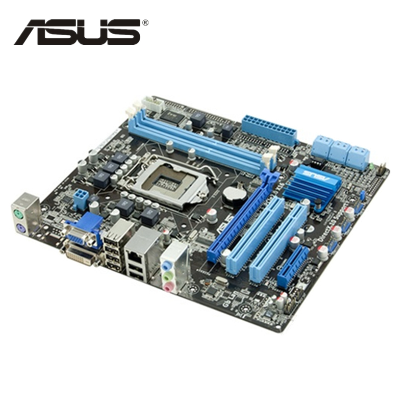 ASUS P7 H55M Original ASUS P7H55-M PLUS P7H55M Plus motherboard Socket LGA 1156 uATX DDR3 VGA For Intel H55 Desktop PC Mainboard asus m4a88t m desktop motherboard 880g socket am3 ddr3 sata ii usb2 0 uatx