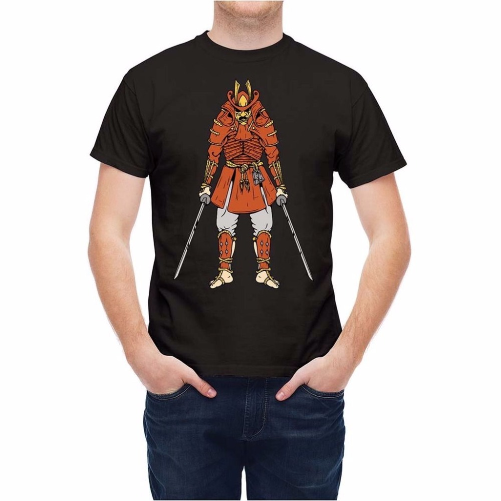Design t shirt china - 2017 New Brand Design T Shirts Casual Cool Traditional Chinese Illustration Figure Samurai Warrior Slim Fit