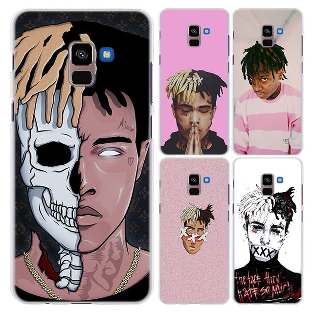 huge selection of 03f40 d8dca US $1.85 38% OFF|for Galaxy A8+ case XXXTENTACION Rap Hip style hard clear  frame back Case cover for Samsung A6 A6+ A8 A8+ 2018 A3 A5 A7-in ...