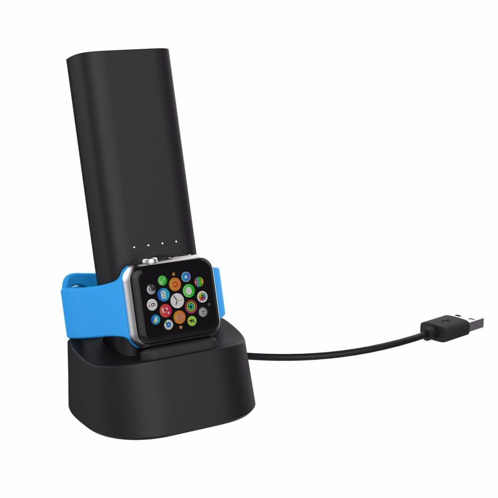 Smart Portable Travel Wireless Power Bank Magnetic Charging Docking 5000mAh Lithium Ion Battery For Apple Watch