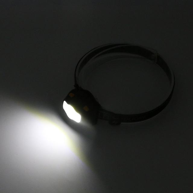Mini Waterproof COB LED Headlamp 800Lm 3 Modes Red Warning Safety Headlight Camping Flashlight Frontal Head Light Torch Lamp AAA