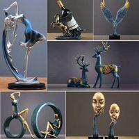 Coruja estatuetas da família adorável dançarino ornamento casa decoração criativa artesanato animal casa acessórios de decoração presente casamento para os amantes|Estatuetas e miniaturas| |  -