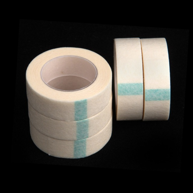 5pcs Eyelash Extension Lint Breathable Non-woven Cloth Adhesive Tape Medical Paper Tape For False Lashes Patch Makeup Tools 1