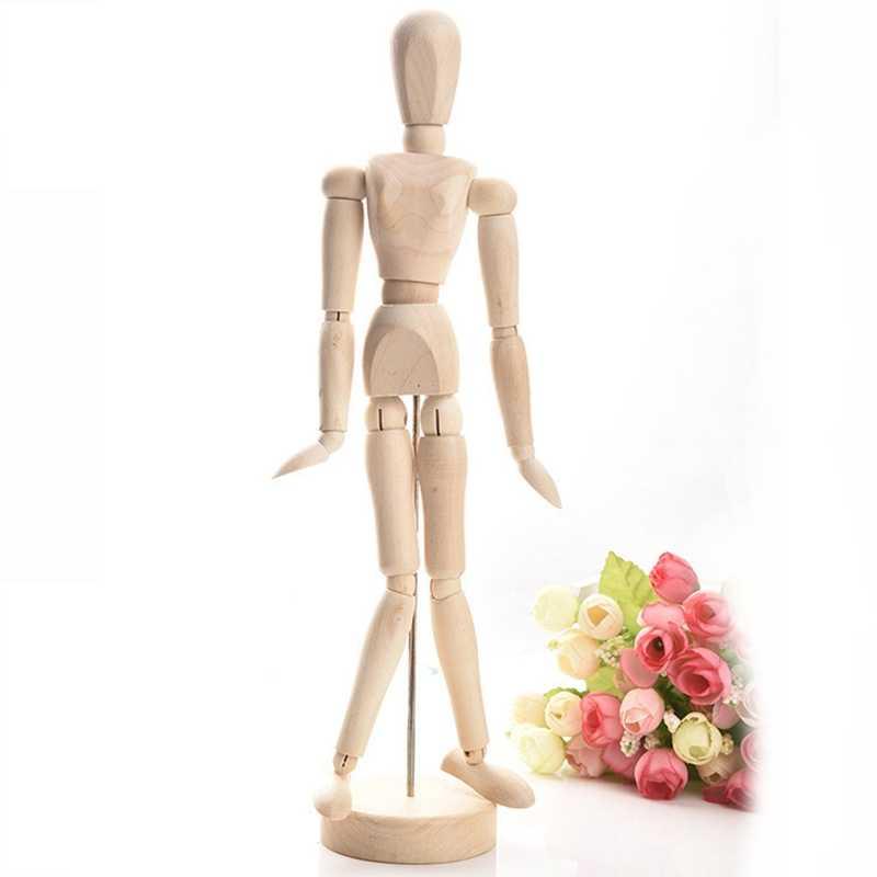 Mannequin en bois, grand homme/main, 4.5/8/12 pouces, membres mobiles, dessin, humain/main, Mannequin