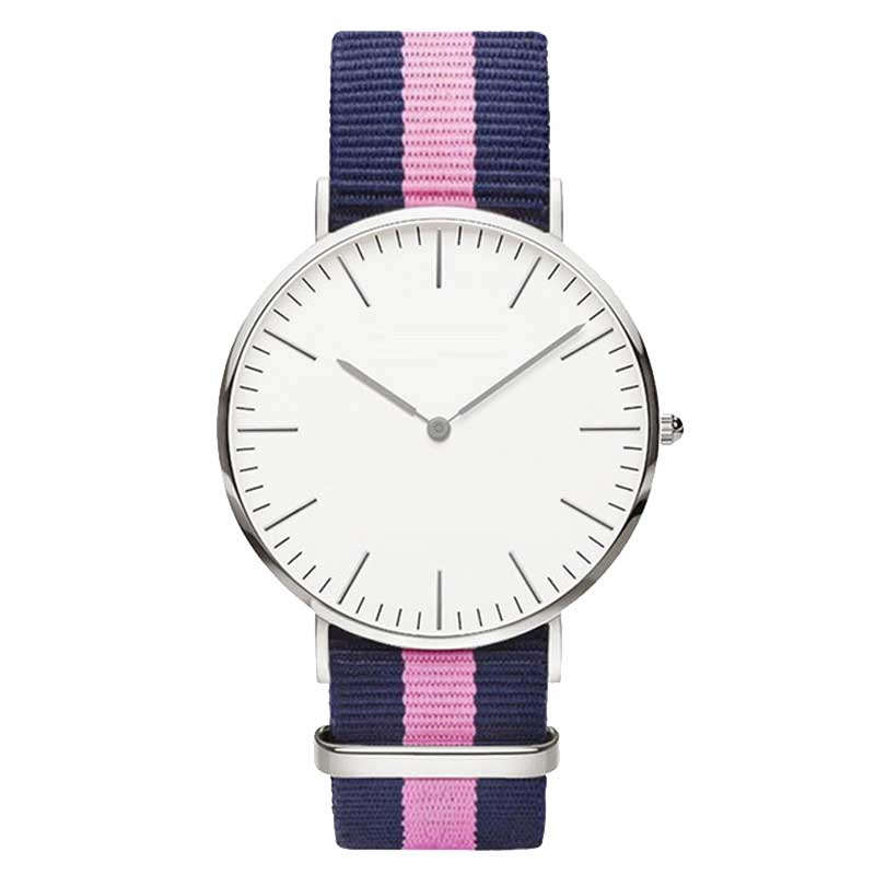 Hot Ultra Slim Quartz Watch Simple Nylon Band Relogio Masculino Fashion woman men Wristwatches 18 StylesHot Ultra Slim Quartz Watch Simple Nylon Band Relogio Masculino Fashion woman men Wristwatches 18 Styles
