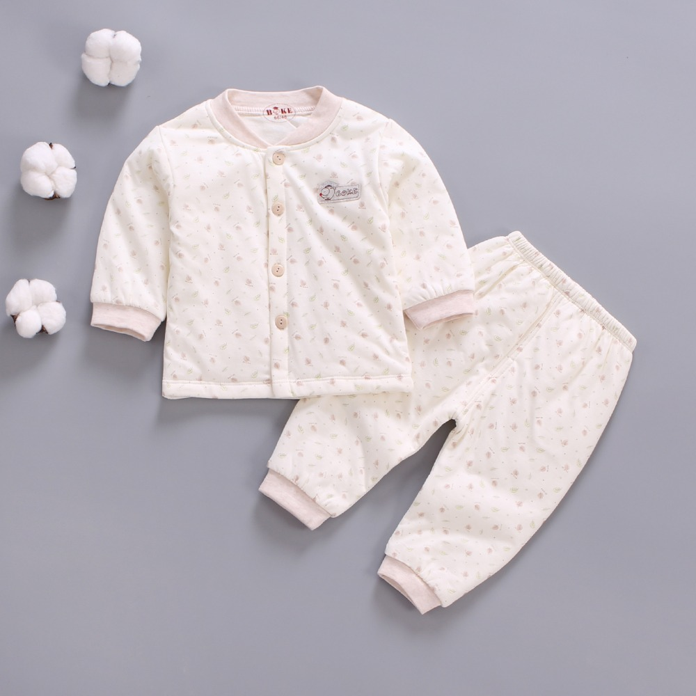 Bibicola spring autumn baby girls clothes set toddler girls winter warm underwear clothing set Newborn Cartoon clothes suit 2pcs