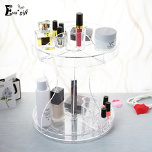 360 degree rotation Crystal Acrylic Cosmetic Cosmetic Organizer Crystal Clear makeup display Stand Rack Holder Organizer Boxes
