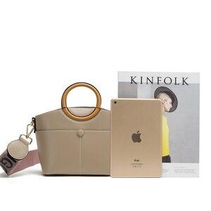 Image 5 - Брендовая женская сумка JIANXIU из искусственной кожи, круглая портативная дизайнерская сумка тоут, 2019, женские сумки мессенджеры на плечо, двойные Наплечные ремни
