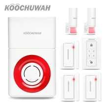 KOOCHUWAH Security Home Wireless Alarm GSM SMS Alarm Siren Wireless Door Window Security Outdoor Motion for House/Factory/Garage все цены