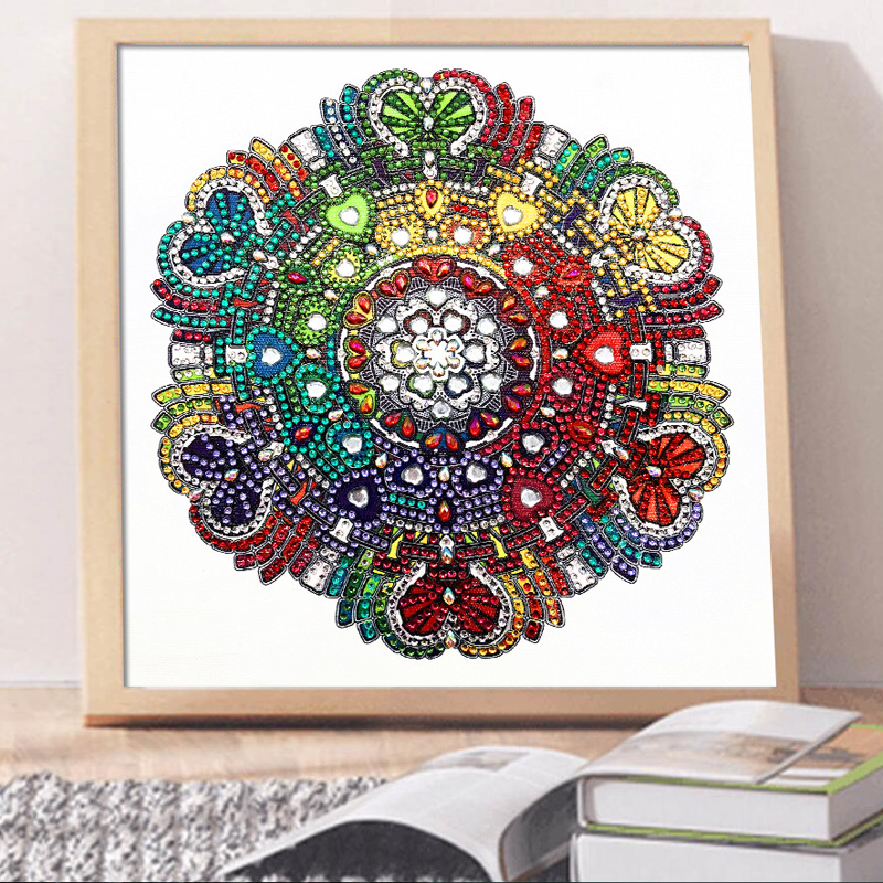 RUBOS DIY 5D Diamond Embroidery Mandala Sun Triptych Diamond Painting Multi Picture Rhinestones Pearl Big Mosaic Sale Wall Decor (43)
