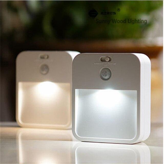 05 w led pir en licht sensor trap lamp draadloze batterij of opladen model 3