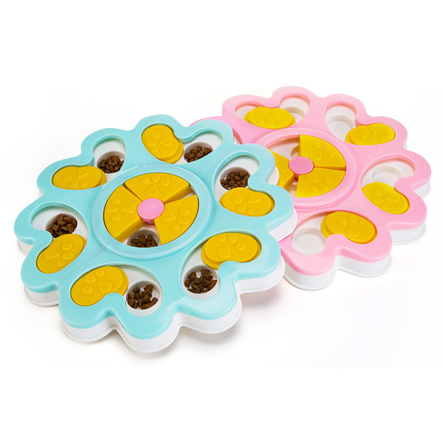 pawstrip Educational Dog Toys Flower Design Anti Choke Dog Bowl Puppy Dog Food Dispenser Pet Dog Training Toys 25*3cm