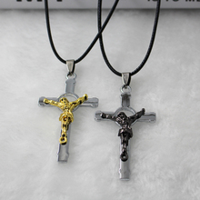 bijouterie suspension personalized gold lovers Cross Pendant Necklace Rope chain Chain Christian Crucifix necklace Men Jewelry infinity beaded crucifix pendant layered necklace