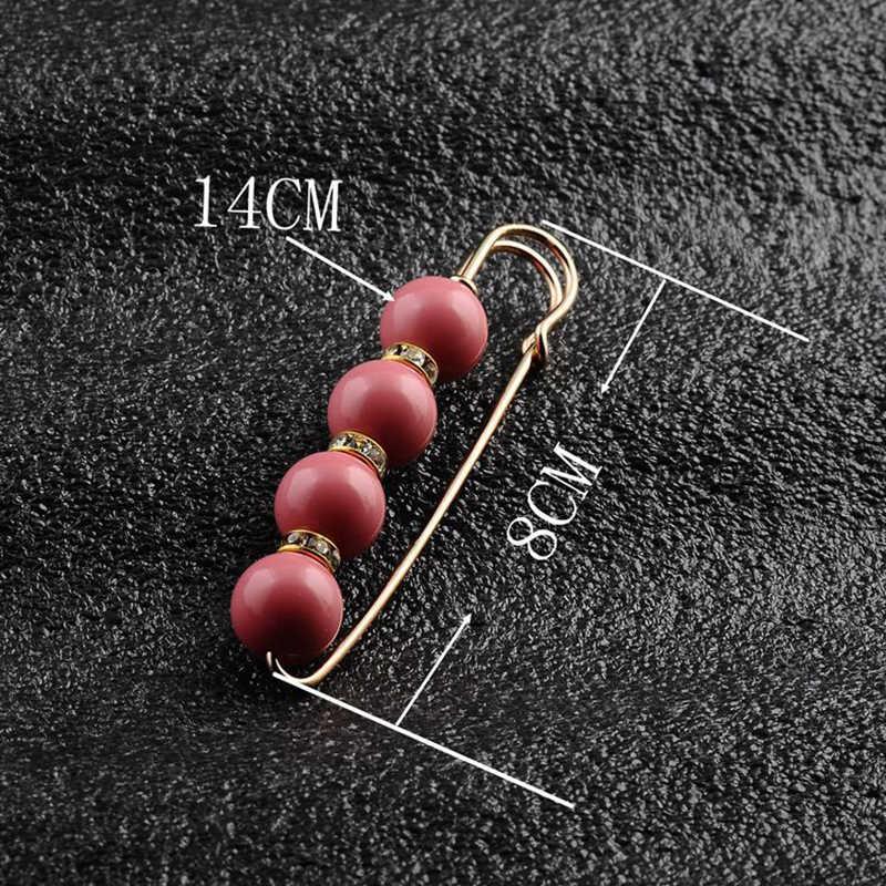 Grande Perline Perla Simulata Spilla Spille Della Decorazione Del Vestito Fibbia Spille Spille Gioielli Per Le Donne Degli Uomini Accessori di Abbigliamento