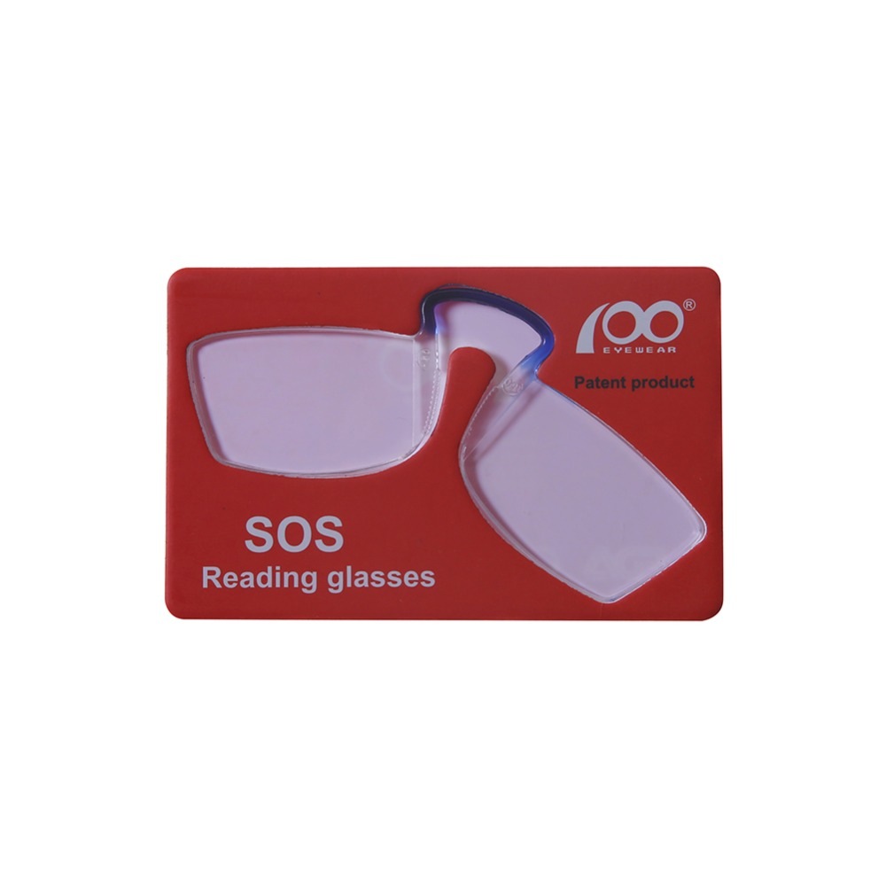 [$5 Deals] Patent Nose Clip Glasses Thin Portable Reading Glasses Mini Card Wallet Pince Nez Optics Economy Shipping