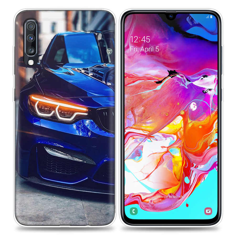 Sacs étui pour samsung Galaxy Téléphone Portable A50 A70 A30 A20 J4 J6 J8 A6 A8 M30 A7 Plus 2018 Note 8 9 Rouge Sport Auto Voiture Classique Co